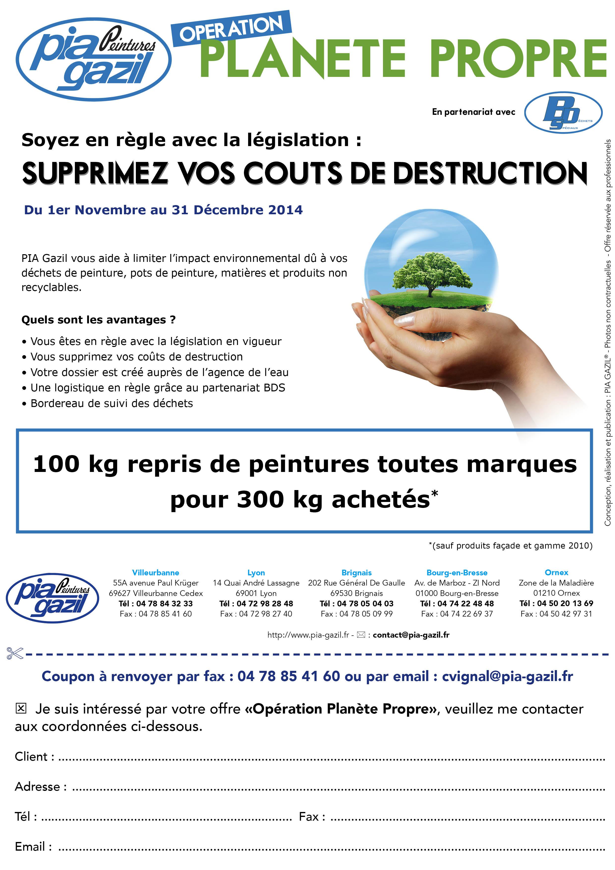 operation planète propre coupon
